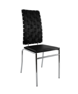Webb Chair Black Leather Chair