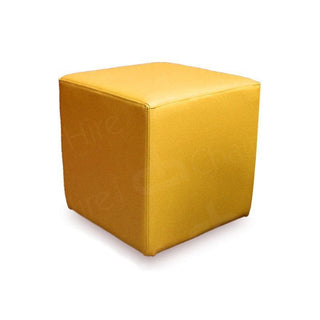 Yellow Cube Seat Chair