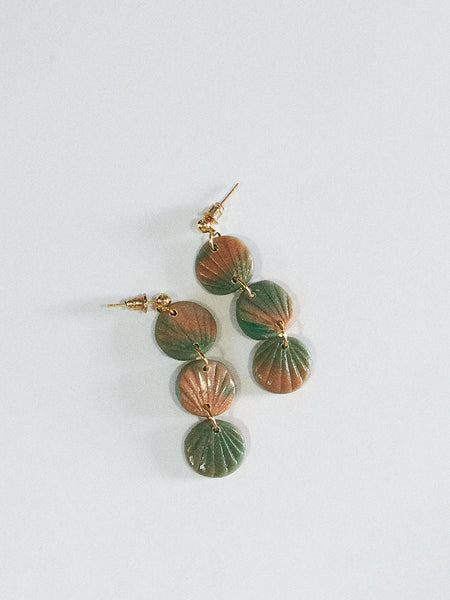Alma Earrings in Green Tortoise
