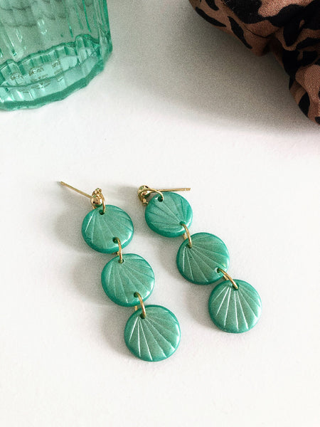 Alma Earrings in Jade Shimmery