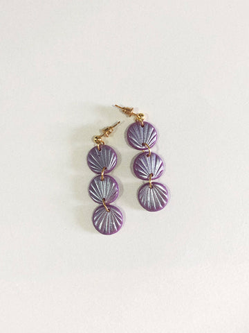 Alma Earrings in Lavender
