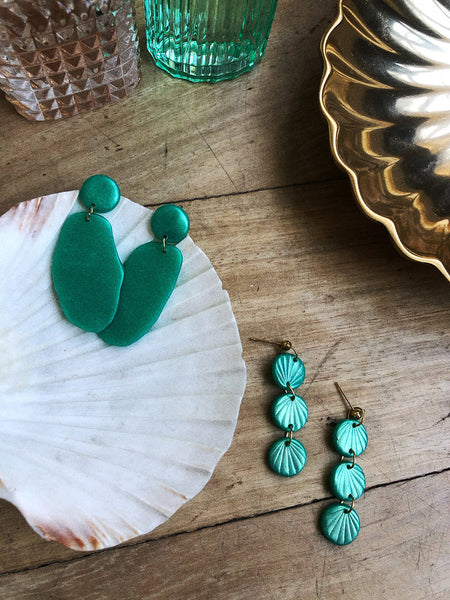 Ellie Earrings in Jade