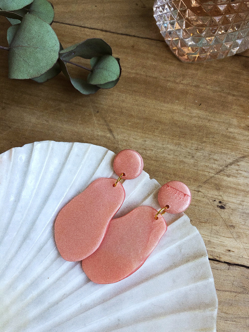 Ellie Earrings in Rose Pink