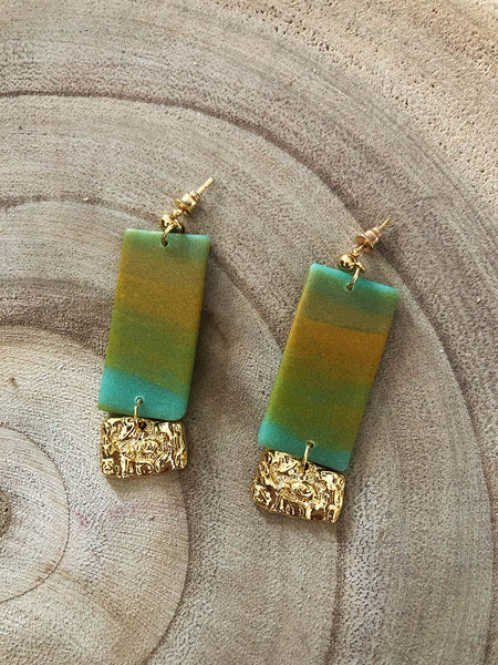Jackie Earrings Tropical Green