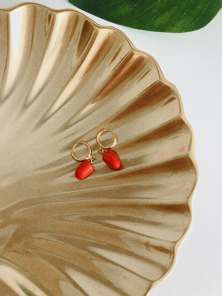 Pepper Mini Earrings in Red