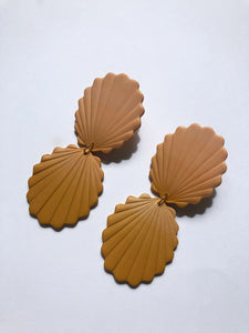 gradiend matte polymer clay earring