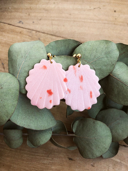 Sophie One Earrings in Pink Cotton