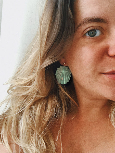 Sophie One Earrings in Green Shimmery