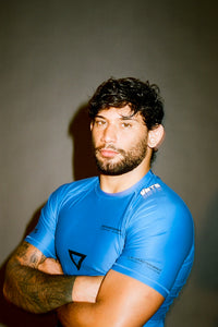 Ranked rash guard 2020 blue  180 GSM  lycra x polyester  Side ventilation system (Mesh fabric)  Matheus Diniz  vhts europe