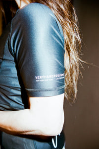 Ranked rash guard 2020 black  180 GSM  lycra x polyester  Side ventilation system (Mesh fabric)  Danielle Kelly vhts europe