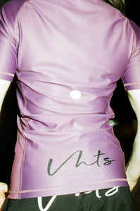 Ranked rash guard 2020 purple  180 GSM  lycra x polyester  Side ventilation system (Mesh fabric)  Danielle Kelly vhts europe