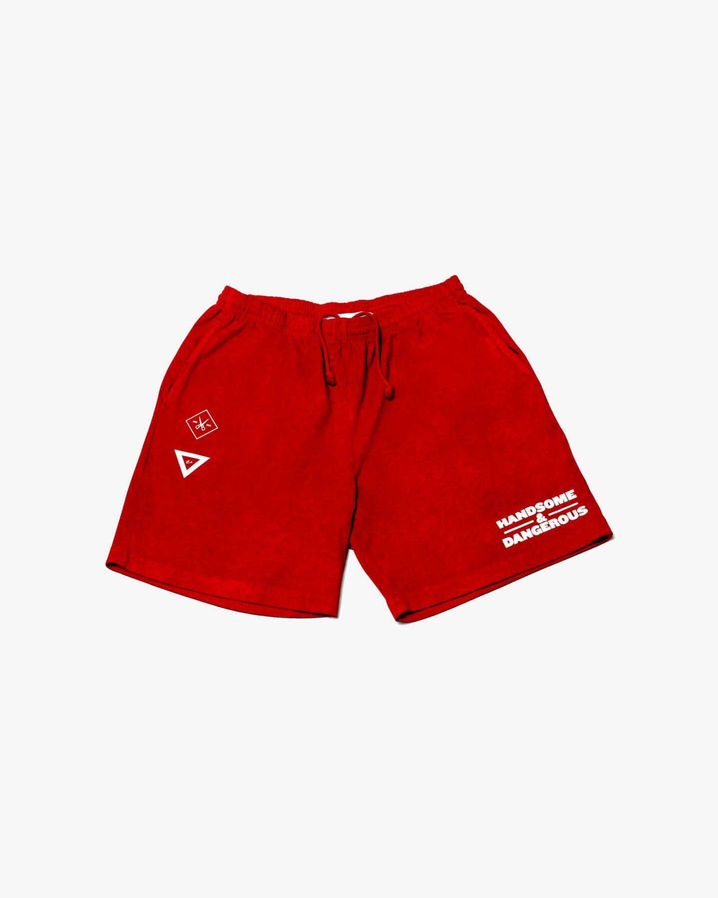 BB X VHTS TERRY SHORTS HANDSOME & DANGEROUS Heavy Jersey Gym Short; ideal for any day - whether you have plans to get up and workout or just lounge around. These shorts are part of our garment dye line, which is always custom dyed, shrink-free and sewn with 100% USA-grown cotton.  • Unisex • Made in U.S.A • 8.5 oz/yd2/ 270 g/m2 • 12/1 Open-End Cotton • Elastic Waistband with Drawstring • Side Pockets • Shrink-Free  100% Cotton  vhts europe