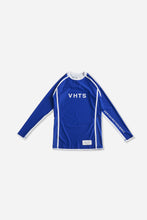 Load image into Gallery viewer, blue nogi compression gear jiujitsu F/W 19 RANKED RASH GUARD LONG SLEEVES 220 GSM Polyester X Lycra Side ventilation panel Cool MAX Unique and Minimalistic design with clean logos vhts europe