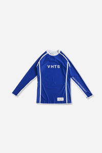 blue nogi compression gear jiujitsu F/W 19 RANKED RASH GUARD LONG SLEEVES 220 GSM Polyester X Lycra Side ventilation panel Cool MAX Unique and Minimalistic design with clean logos vhts europe