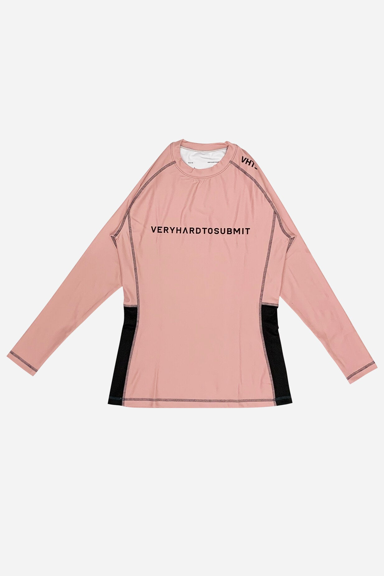 Pink (Female fitting) Long sleeves Rash Guard8 0% Polyester x 20% lycra   side mesh panel ventilation system  contrast stitching  sublimation printing  Female body type fitting vhts europe