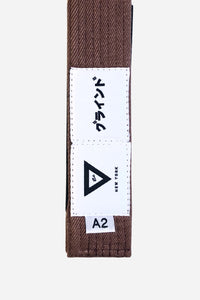 "brazilian jiu jitsu brown HEMP BELT vhtseurope vhtsny 11OZ 100% Hemp Twill Fabric Two Layers Of High-density Cotton Supporting Inner Core Of The Belt 8 Rows Stitching Belt Width: 1-5/8"" Belt Thickness: 1/4"" Grading Bar Length: 5-1/4"""