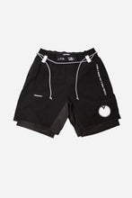Load image into Gallery viewer, ERROR NYC x EVAN TATTOO Collaboration combat shorts front vhts europe