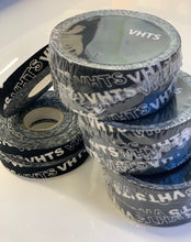 Load image into Gallery viewer, brazilian jiu jitsu VHTS logo print finger tape vhtseurope vhtsny Train in style; Enjoy more Jiu Jitsu training with protected finger joints! Detail: Strong adhesive Screen printed Width: 1 cm Length: 10 meter Quantity: 3 rolls   vhts europe veryhardtosubmit