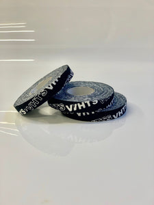 brazilian jiu jitsu VHTS logo print finger tape vhtseurope vhtsny Train in style; Enjoy more Jiu Jitsu training with protected finger joints! Detail: Strong adhesive Screen printed Width: 1 cm Length: 10 meter Quantity: 3 rolls   vhts europe veryhardtosubmit