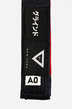 Load image into Gallery viewer, Brazilian Jiu Jitsu HEMP BELT BLACK LABEL (SPECIAL EDITION) This belt is made with HEMP fabric. 8 count stitching High quality label Natural hemp fabric's structure allows air goes through easily. This helps to prevent from bacteria adherence and dwelling. Natural dry under sunlight will help to maintain the belt clean. vhts europe