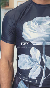 IWAYA X VHTS Collab Rose short sleeve rash guard Polyester 80% x Lycra 20% Sublimation printing Reflective heat press vinyl vhts europe