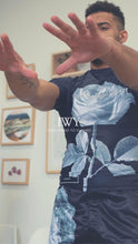 Load image into Gallery viewer, IWAYA X VHTS Collab Rose short sleeve rash guard Polyester 80% x Lycra 20% Sublimation printing Reflective heat press vinyl vhts europe