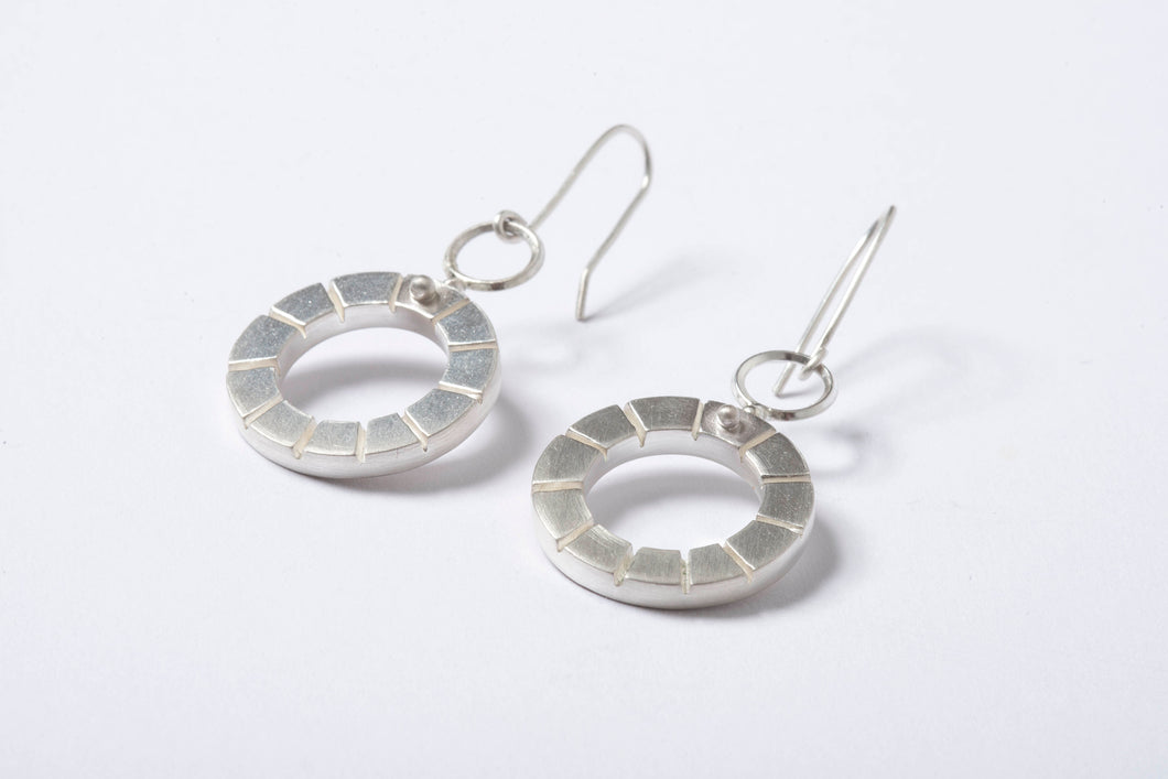 Notched Drop Earrings
