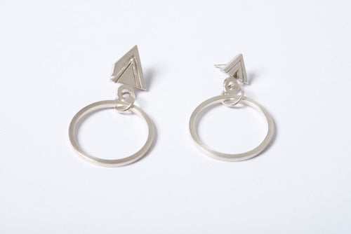 Carved Triangle Drop Earrings