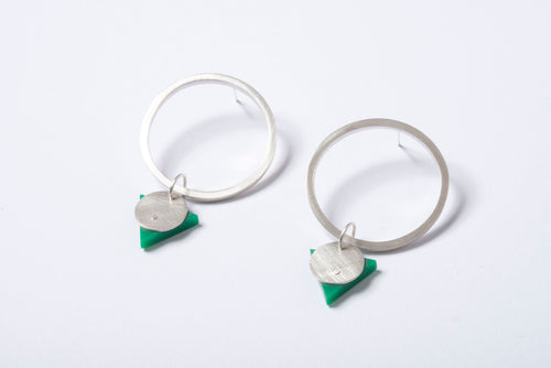 Statement Hoops - Emerald Green
