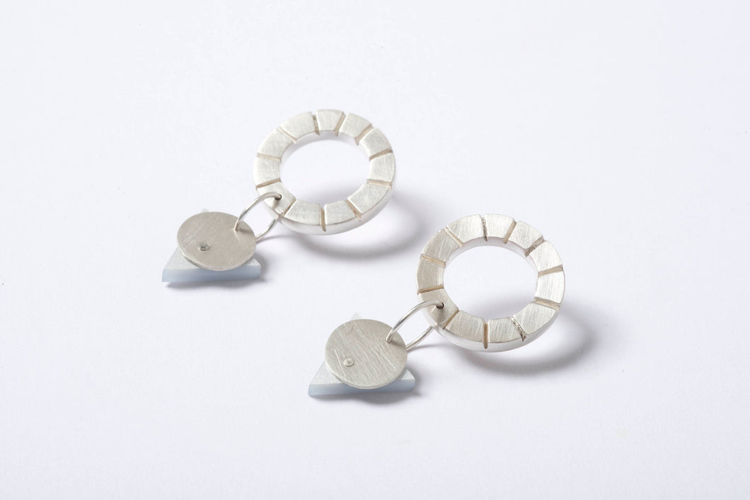 Notched Stud Earrings