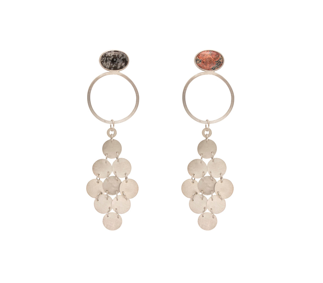 Chandelier Bezel Earrings