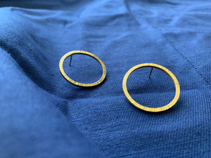 Gold Textured hoop