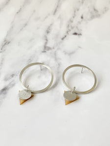 Statement Hoops - Gold Perspex