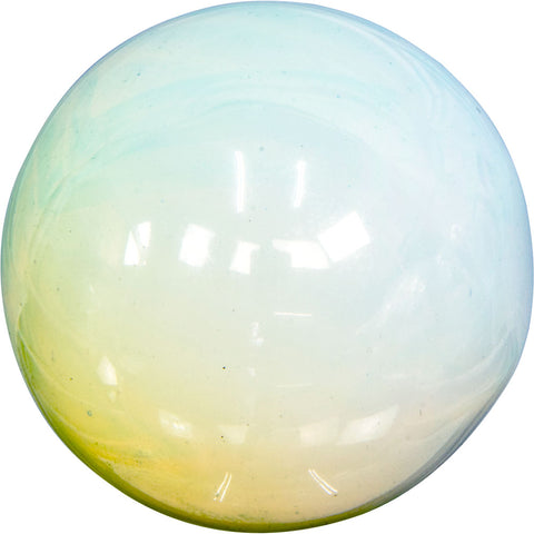 light blue and yellow crystal sphere