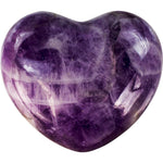purple heart shaped crystal