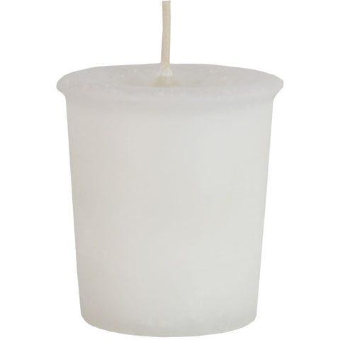 white votive candle