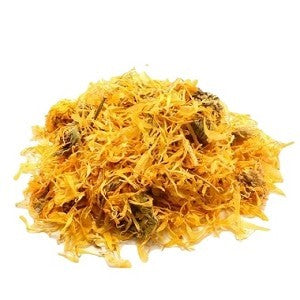 pile of cut calendula flowers