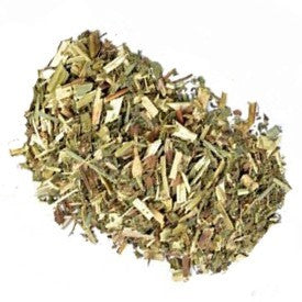 pile of cut and dried meadowsweet herbs