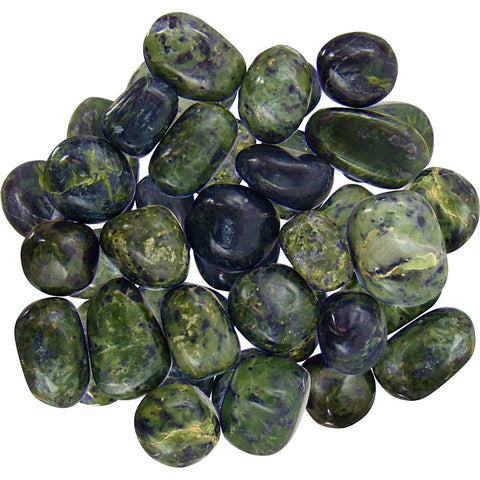 pile of polished green jade stones