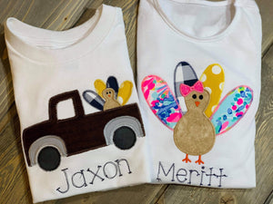 Thanksgiving Embroidered Shirts