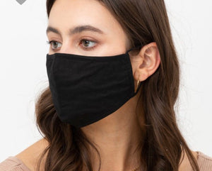 Solid face masks nose wire