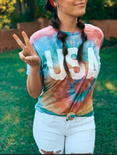 Load image into Gallery viewer, USA tie dye