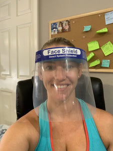 Adult face shields