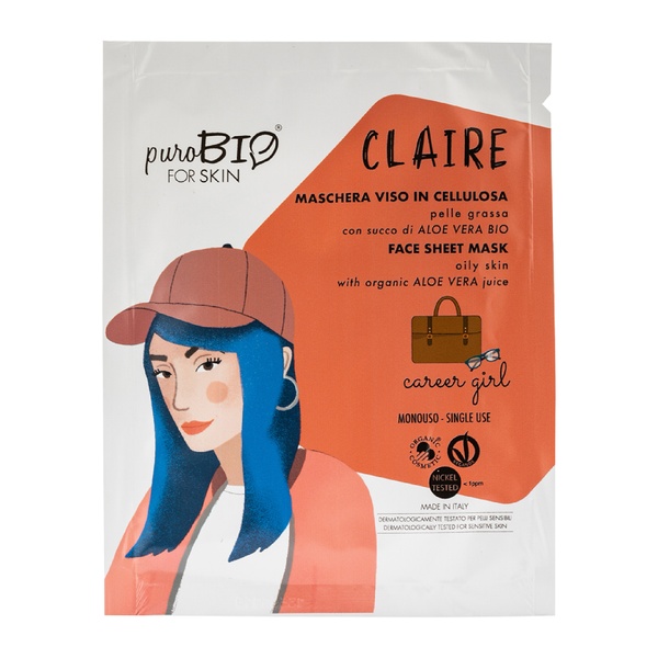 "Purobio For Skin - Claire maschera viso in cellulosa ""career girl"""
