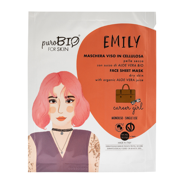 "Purobio For Skin - Emily maschera viso in cellulosa ""career girl"""