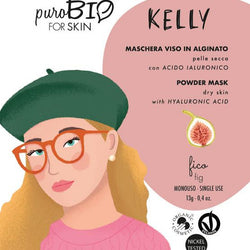 Purobio For Skin - Kelly maschera viso in alginato con acido ialuronico pelle normale e secca