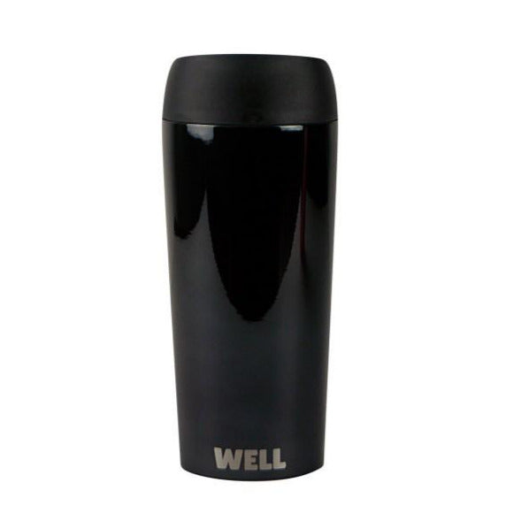 Travel mug Black Chrome