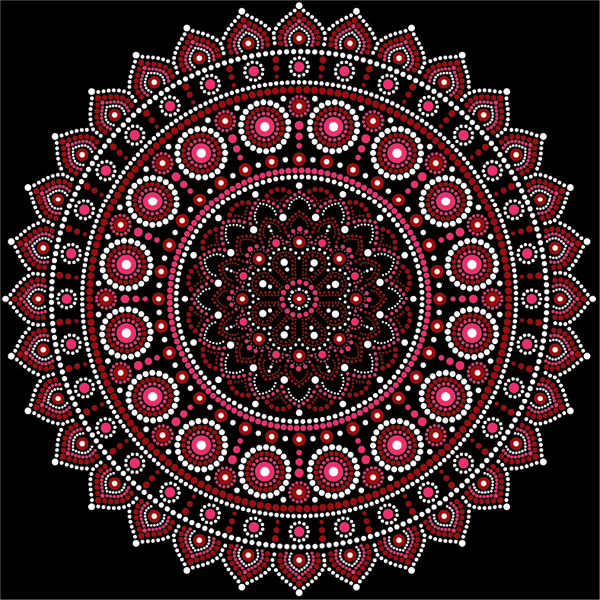Aboriginal Inspired Mandala Sublimation / Infusible ink Sheet