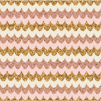Pink & Gold Small Patterned
