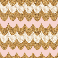 Pink Gold Patterned